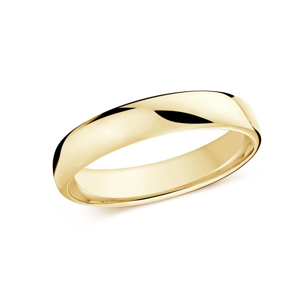 Yellow Gold Men's Ring Size 4mm (J-308-04YG)