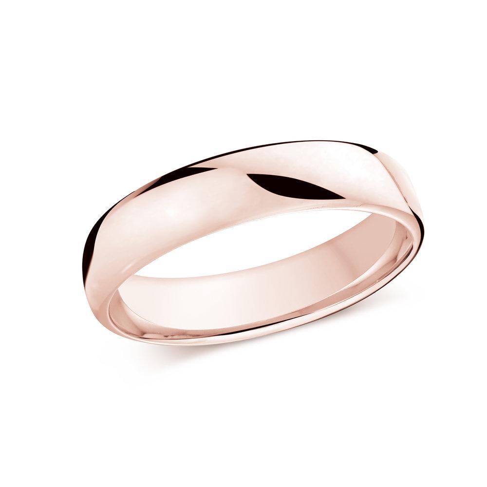 Pink Gold Men's Ring Size 5mm (J-308-05PG)