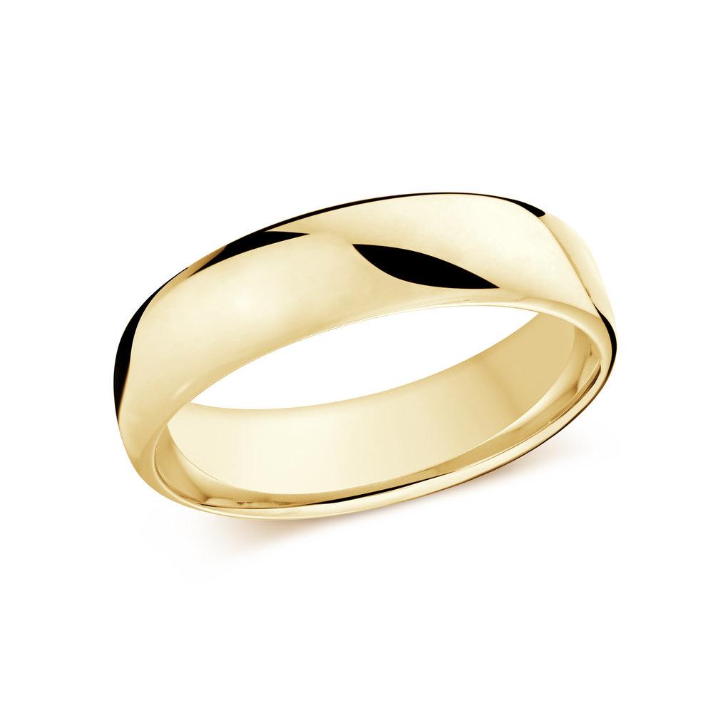 Yellow Gold Men's Ring Size 6mm (J-308-06YG)