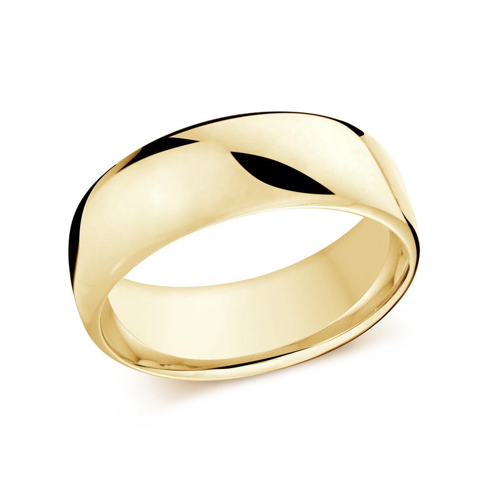 Yellow Gold Men's Ring Size 8mm (J-308-08YG)