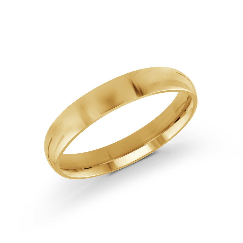 Yellow Gold Men's Ring Size 4mm (J-217-04YG)