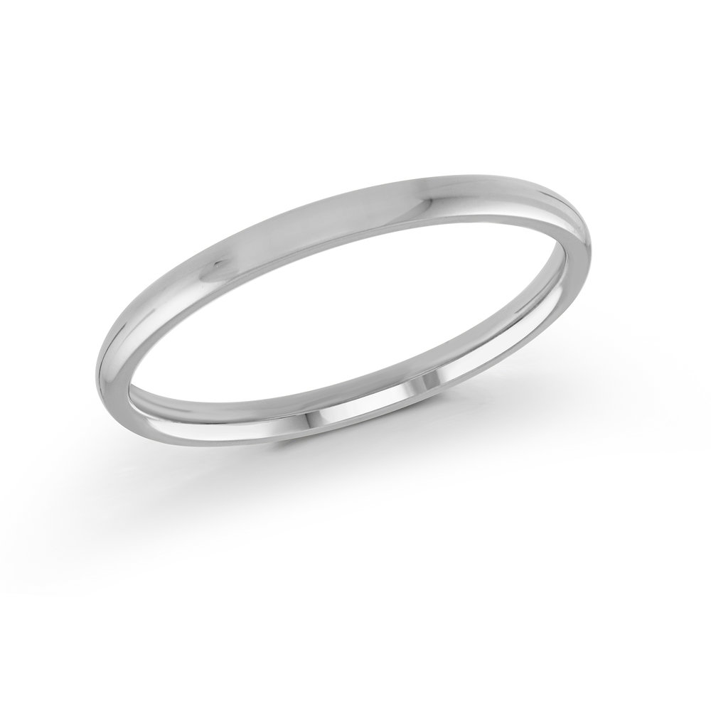 White Gold Men's Ring Size 2mm (J-100-02WG)