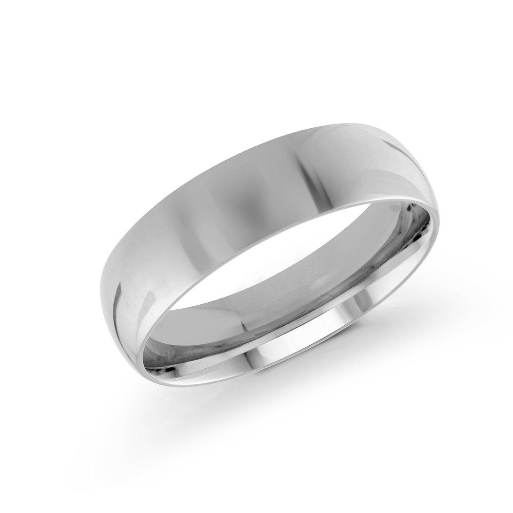 White Gold Men's Ring Size 6mm (J-100-06WG)