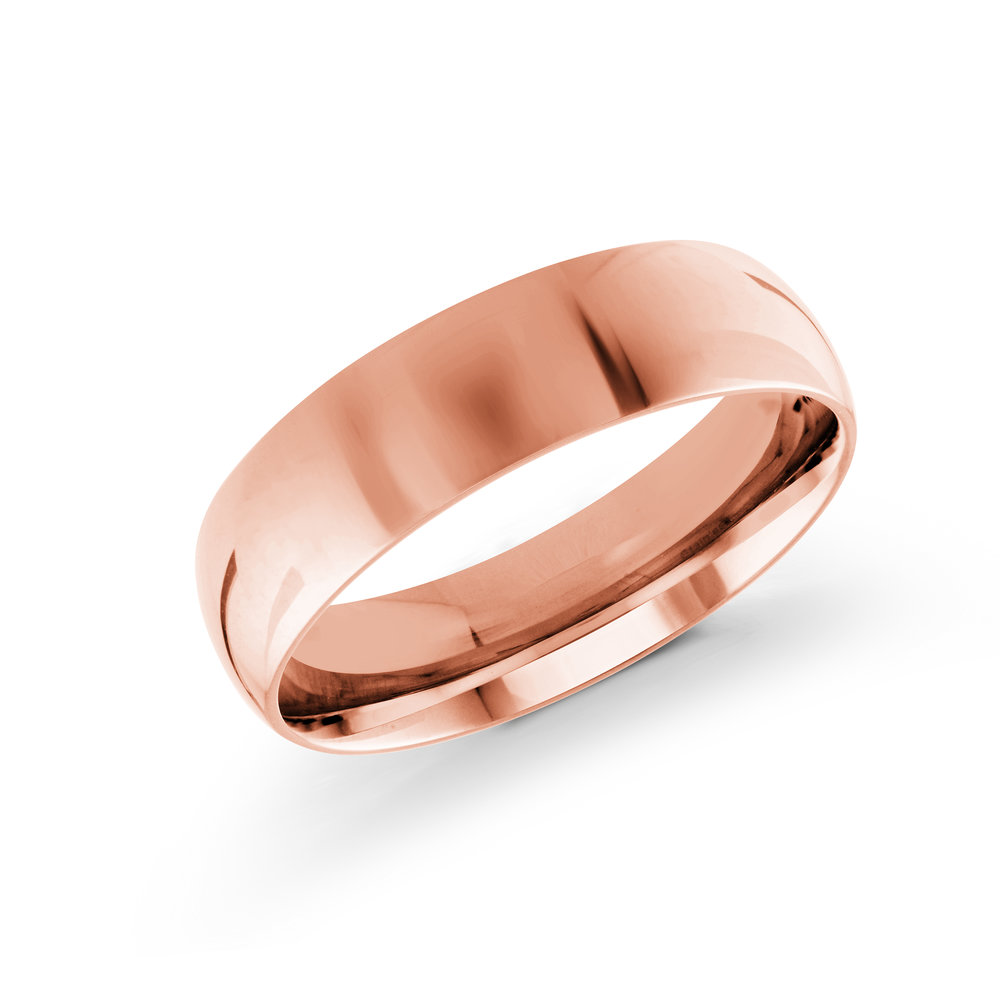 Pink Gold Men's Ring Size 6mm (J-100-06PG)