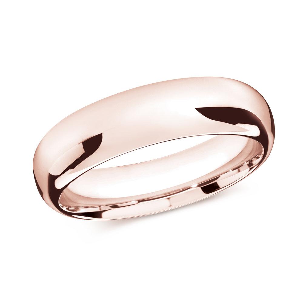 Pink Gold Men's Ring Size 7mm (J-207-07PG)