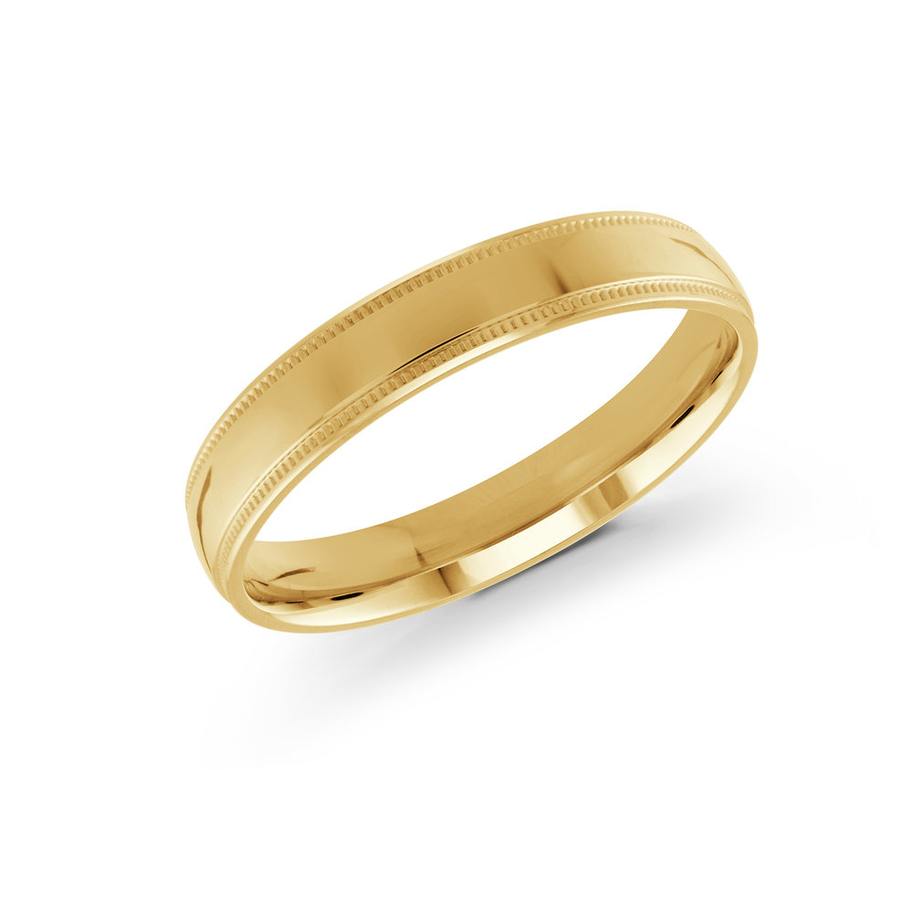 Yellow Gold Men's Ring Size 4mm (J-209-04YG)